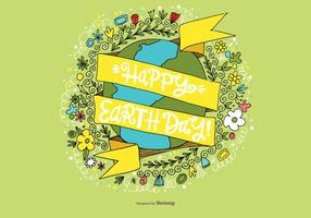 Glad Earth Day Vector