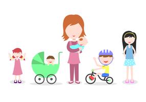 Freier Babysitter-Vektor vektor