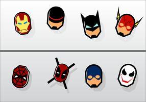 Gratis Superhero Kylskåpmagneter Vector