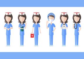 Gratis sjuksköterska vektor