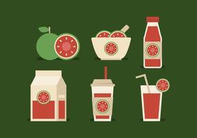 Vektor guava produkter
