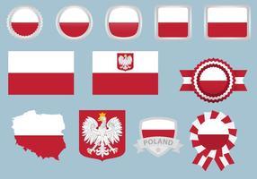 Polen Flaggen vektor