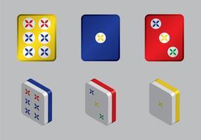 Kostenlose Mahjong Vektor-Illustration vektor