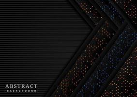 randig bakgrund med överlappande glitterpilar vektor