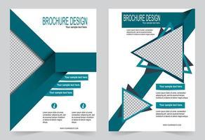 Flyer Design grüne Abdeckung Vorlage vektor