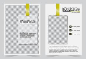 Cover Flyer Design weiße Vorlage. vektor