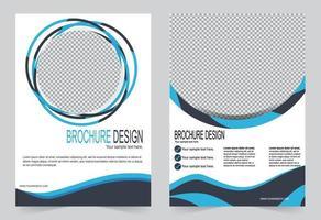 enkel cirkel design årsrapport täcka malluppsättning vektor