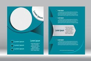 blaugrün Abdeckung Vorlage Design vektor