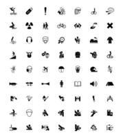 Warnschilder und Symbole für industrielle Gefahren vektor