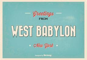 Retro västra babylon new york hälsning illustration vektor