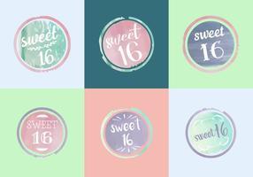 Free Sweet 16 Aquarell Vektoren