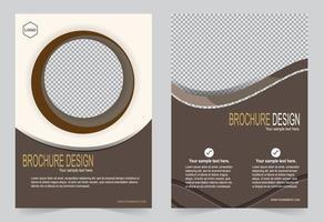 Mokka-Abdeckung für Broschürenschablone vektor