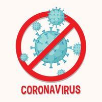 Poster mit Covid-19-Zelle nicht erlaubt vektor