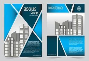 blaue Cover-Vorlage mit Bildraum. vektor