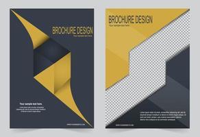 schwarze und gelbe Cover-Vorlage vektor