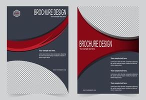 graue und rote Cover-Vorlage vektor