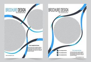 Blue Circle Flyer Cover Design vektor