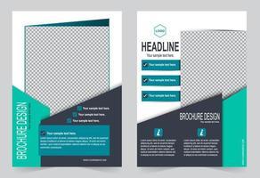Flyer Design verschiedene blaue Vorlage vektor