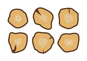 Free Tree Rings Vector Illustration # 2