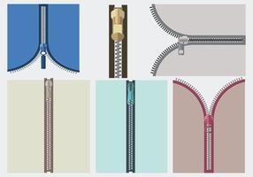 Närbild View Zipper Vector