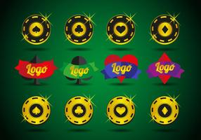 Casino logotyper element vektor