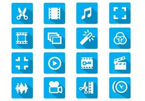 Videobearbeitung Flat Icon