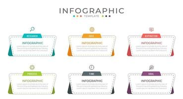 Business-Infografik-Workflow-Vorlage vektor