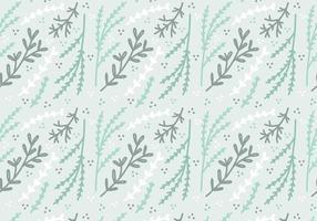 Mint Farbige Pflanze Vektor Muster