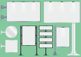 Blank Horten Billboard Vektoren