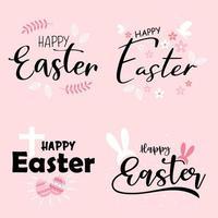 Happy Easter Black Schriftzug und Kritzeleien gesetzt