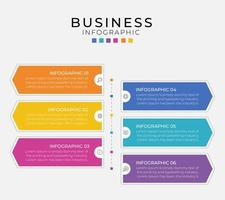 bunte Geschäftsinfografikvorlagen des modernen Pfeilstils