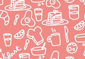 Pannkaka frukost mönster vektor