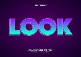 fetter lila und grüner Verlaufstext-Effekt vektor
