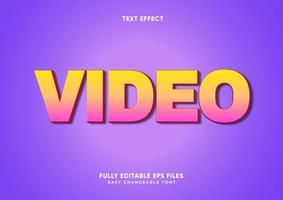 rosa und gelber Verlaufstext-Effekt vektor
