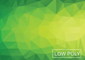 Grön geometrisk Låg Poly Stil Vektor