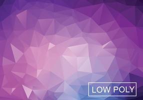 Lila Geometrisk Låg Poly Stil Illustration Vektor