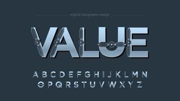 futuristische dekorative Großbuchstaben-Typografie vektor
