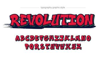 röd med fet strejk graffiti stil text effekt