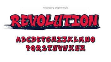 Rot mit fettem Strich Graffiti-Stil Texteffekt vektor