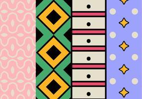 Geometriska färgstarka mönster vektor