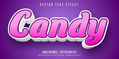 Candy Pink kursiver Texteffekt