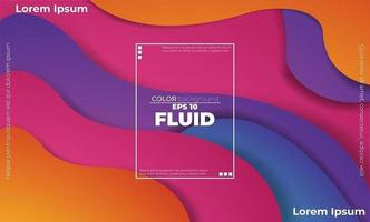 geschichtetes buntes Wellenformdesign mit Textfeld