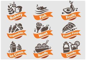 Essen und Getränke Shop Icon vektor