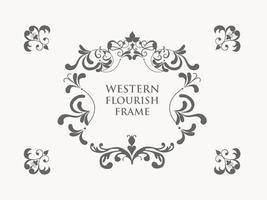 Free vector westlichen flourish frame