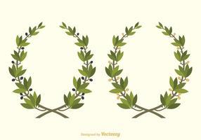 Gratis Vector Olive Wreath