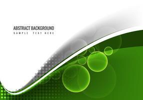 Free Vector Green Wave Hintergrund
