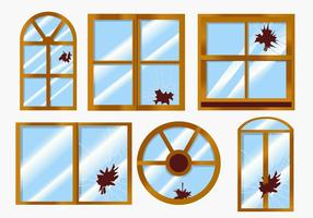 Vektor brutna fönster