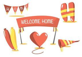 Willkommen Home Vector Set