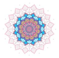 rosa, lila, blå cirkel mandala design