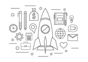 Unternehmerisches unternehmen vektor
